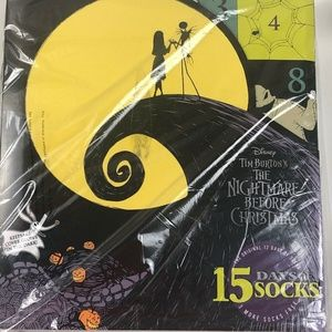 Nightmare Before Christmas 15 Days of Socks Advent